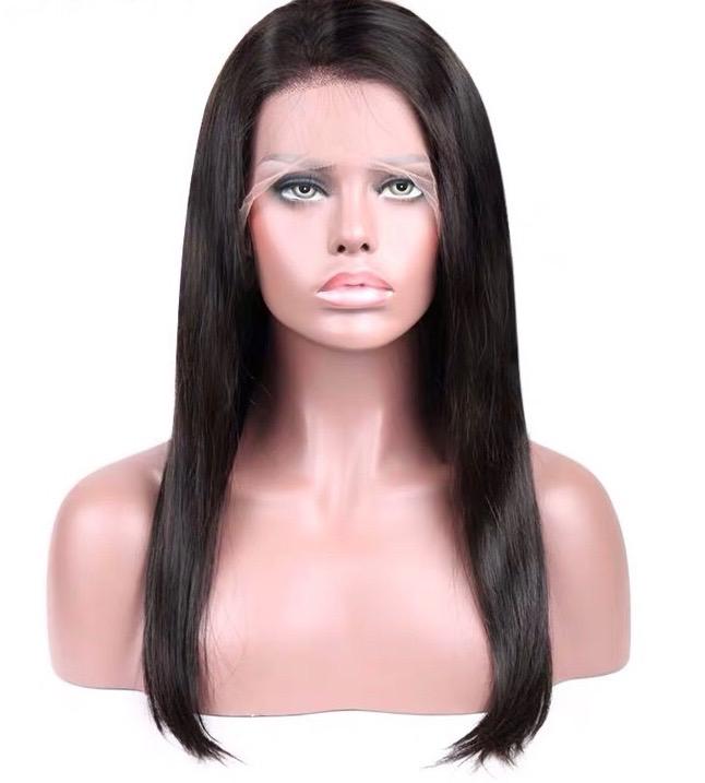 Straight Brazilian Human Hair Full Lace Wig